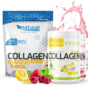 Collagen Premium - Hydrolyzovaný rybí kolagen 300g Stevia Apple Fresh 300g Stevia Apple Fresh
