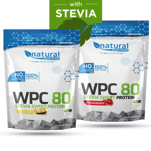 WPC 80 Stevia Sweet - syrovátkový whey protein 1kg Strawberry 1kg Strawberry